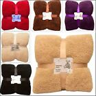 Cosy & warm double & king size Teddy Throws,  Beautiful bedding / bed blankets