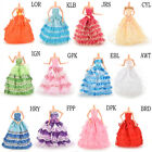 Gown Party Dresses Fashion Wedding Dress Clothes Accessories for Barbies KFO