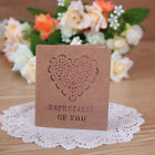 Paper Vintage Hollow Style Greeting Card Set With Envelope/Bookmark/Gift Card