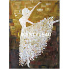 Handmade with palette knife oil on Canvas Ballet Dancer Oil painting Home Decor