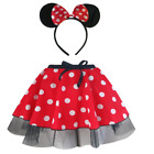 Minnie Mouse Style Tutu Skirt - Costume, Fancy Dress - 12 length EAR Option SET