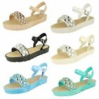 Ladies Buckle Fastening Open Toe Flatform Savannah Sandals