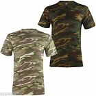 Mens Cotton Camouflage Crew Neck T Shirt Army Print Military Combat T Shirt New
