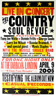 Country Soul Revue Barbican London 2005 Hatch Show Print Testifying Concert
