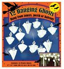 """(24) ea Sunhill L720RC/72 12 packs 8"""" x 8"""" Halloween Hanging Ghosts"""