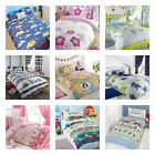 Childrens Double Duvet Cover and Pillowcase - Girls and Boys Bedding