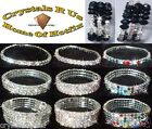 stretch BRACELET BANGLE BLING CRYSTAL RHINESTONE BEAD DIAMANTE BRIDAL ACCESSORY