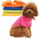New Fashion Cute Pet T-Shir 6 Color Solid Cotton Dog Apparel Clothes Shirt  G03