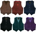 Women's Suede Vests Sizes XS & Small Brown Black Blue Purple & Teal   NEW ++