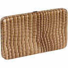 Reptile Flat Clutch Wallet Purse w/Checkbook Case