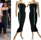 Womens Cocktail Casual Club Party Slim Strapless Tube Maxi Long Bodycon Dresses