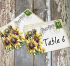 LARGE DOUBLE or SINGLE SIDED SUNFLOWER POSTCARD WEDDING TABLE CARDS or SIGN #57