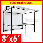 Food Market Stall Kit with Counter 2.4m x 1.8m Market Trade Stand Heavy Duty