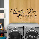 Laundry Room Sorting Out Life One Load At Time! Vinyl Home Quote Decal Sticker