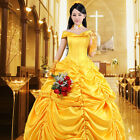 Adult Princess Belle Costume Beauty and The Beast Halloween Dress Party US SHIP