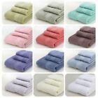 3 Pcs / Set 100% Cotton Face Hand Bath Sheet Towel Cloth Plain Soft Travel 477g