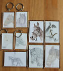 Horse Magnets (2 sizes), Keyrings or sets.  All with different drawings