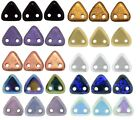 6mm Czech Mates Two Hole Triangle Glass Beads Jewellery Making 5g
