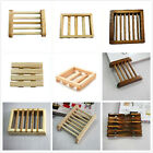 1 X Natural Wood Soap Tray Holder Dish Box Case Storage Novelty Shower Bath New