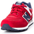 New Balance KL574PEG Kids Suede & Synthetic Red Trainers New Shoes