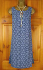 NEW EXCHAINSTORE LEXINGTON LADIES BLUE FLORAL TUNIC SHIFT DRESS S-XL UK 12-18