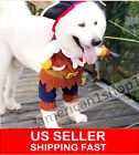 Halloween Costumes Dog Clothes Pirate Captain Pet Apparel Puppy Cat Clothing NEW