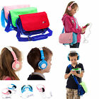 Kids Boy Girl Messenger Style Travel Bag with Headphones for Tesco Hudl 1 / 2