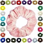 Crushed Velvet Scrunchies Ponytail Holder Hair Accessories Available 25+ colors
