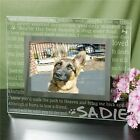 Engraved Remembrance Glass Picture Frame
