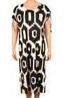 Nanso Long Dress Lyocell langes Hauskleid Nachthemd Serie Ikat Gr. L XL XXL