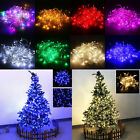 100LED 10M String Fairy Light Xmas Christmas Wedding Tree Decoration Connectable