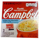 Campbell's K-cup 2 pc Brewed Southwest Style Chicken Broth & Noodle hot SOUP mix