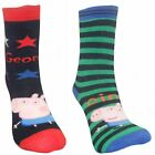 Peppa Pig George Boys 4 Pack Non Skid Slipper Socks