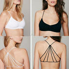 Sexy Womens Cut Out Cross Strap Backless Padded Wrapped Chest Tank Crop Top Club