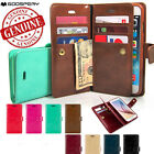 Double Flip book Leather Wallet Case Cover for iPhone 11 XR/Galaxy S20 S10 Note9