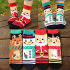 Women Winter Socks Cotton Sock Cute Santa Claus Deer Christmas Xmas Gift USAB