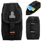 VERTICAL RUGGED NYLON SMART PHONE CASE POUCH HOLSTER CARRYING BELT CLIP COVER