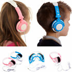 Kids Blue Pink DJ Over Head Travel Folding Headphones for Samsung Galaxy Tablets