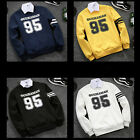 New Men Slim Cotton Sweatershirt Pullover 4 Colors M-4XL Outwear Tops Coat BD