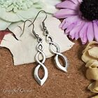 ER2868 Graceful Garden Vintage Style Triple Infinity Charm Earrings