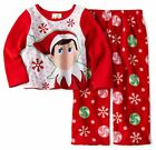 THE ELF ON THE SHELF 2PC BABY GIRL RED CHRISTMAS FLEECE PAJAMAS SET 2T 3T 4T