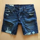 Hollister by Abercrombie Men Jean Denim Shorts Prep Fit Above the Knee Authentic