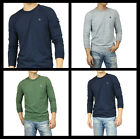 New Abercrombie A&F by Hollister Men Iconic Crew Neck Long Sleeve T-Shirt Muscle