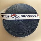 "7/8"" Denver Broncos Blue Border Grosgrain Ribbon by the Yard (USA SELLER) $9.55 USD on eBay"
