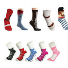 men women Silly Sock Sneaker Socks Cotton Shoe Print gift Christmas Birthday A6