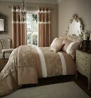Catherine Lansfield Glamour Jacquard Damask Gold Duvet Quilt Cover Set Bedding