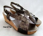 NEW CLARKS SOFTWEAR SHINGLE BEACH TAUPE LEATHER SANDALS