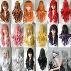 80cm Long Curly Fashion Cosplay Costume Party Hair Anime Wigs Hair Wavy Wig US