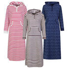 Marks & Spencer Womens Hooded Fleece Nightdress Loungewear M&S Long Hoodie Gown