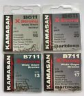 KAMASAN B611 & B711 X-STRONG SPADE END HOOKS (all patterns and sizes available)
